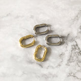 Oval Link Chain Hoop Earrings - 2 Styles
