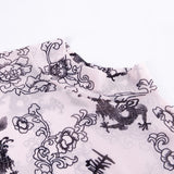 Sonya Dragon Print Tissue Bodysuit Top