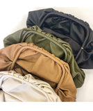 Emely Big Faux Leather Pouch Bag - 4 Colors
