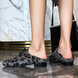 Leopard Cowhide Oxford Shoes - 2 Colors