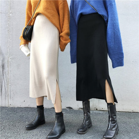 Carla Knit Midi Skirts - 2 Colors