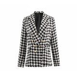 Taylor Vintage Tweed Houndstooth Blazer Jacket