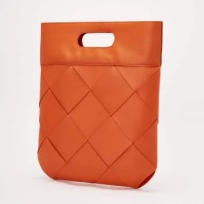 Anika Genuine Leather Weave Pattern Tote - 6 Colors