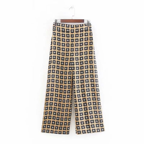 Briana Cropped Retro Prints Pants