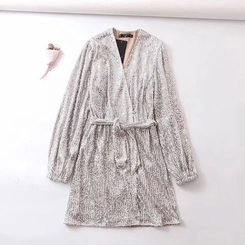 Marea Glitter Sequin Kimono Cardigan / Mini Dress