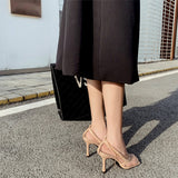Malina Mesh Pump with Chain String Details - 2 Colors