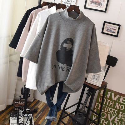 On The Rot Oversize 3/4 Sleeve Sweatshirt Tee - 4 Colors
