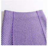 Elin Checkerboard Pattern Knit Pencil Skirt - 3 Colors