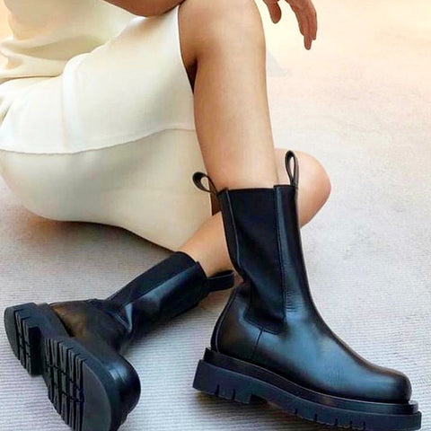 Jazz Platform Military Chelsea Boots