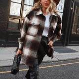 Vintage Plaid Flannel Wool Shirt Jacket - 3 Colors