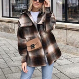 Vintage Plaid Flannel Wool Shirt Jacket