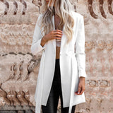 Stephanie Belted Long Blazer
