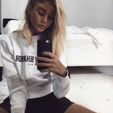 Worst Behavior Mesh Patched Sweatshirt - Black or White
