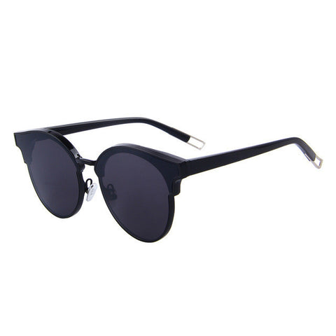 Classic Cat Eye Semi Rimless Sunglasses