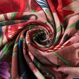 Luxe Cashmere Floral Shawl Scarves, Large - 4 Colors
