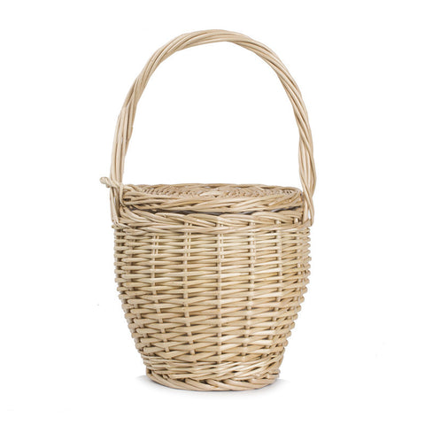 Bohemian Jane Birkin Style Wicker Straw Mini Basket Bag