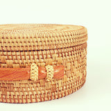 Bohemian Circle Wicker Rattan Shoulder Bag