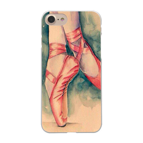 Ballerina Pointe Shoes Prints iPhone Cases