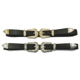 Vintage Western Double Buckle Belt