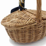 Amelia Wicker Rattan Mini Picnic Basket Bag
