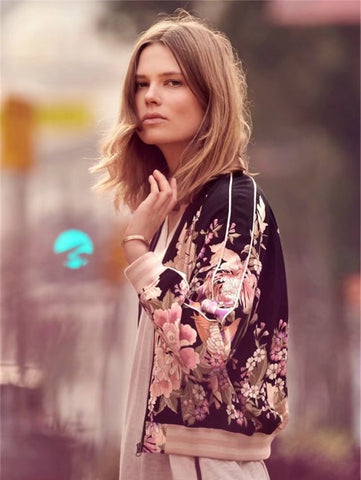 Lucia Floral Bomber Jackets