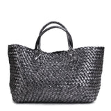 Metallic Woven Tote Bag - 16 Colors
