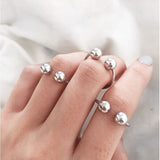 Minimalist Pierce Finger Knuckle Rings - 3 Ring Set