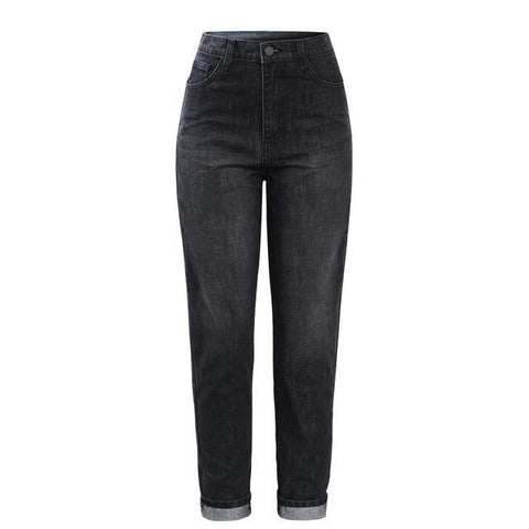 Anja Black High Waisted Boyfriend Jeans