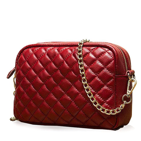 Anika Quilted Leather Crossbody Bag - 6 Colors