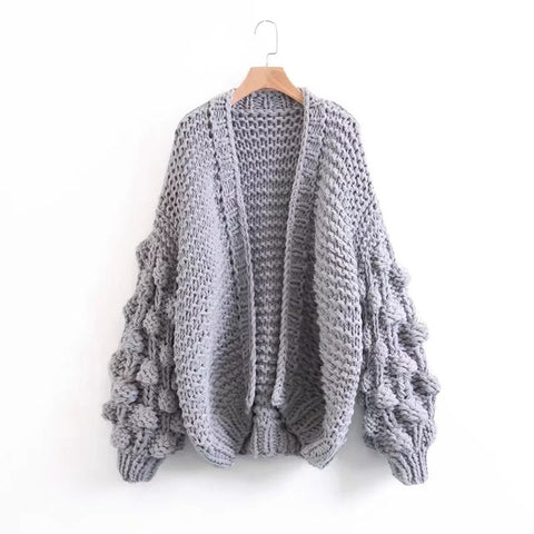 Jennifer Chunky Hand Knit Cardigan Sweater