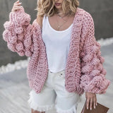 Jennifer Chunky Hand Knit Cardigan Sweater - 7 Colors