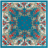 Russian Vintage Floral Silk Scarf - 6 Styles
