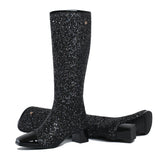 Freya Cap Toe Knee High Glitter Boots - 4 Colors