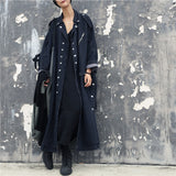 Natalie Dark Denim Maxi Trench Duster Coat