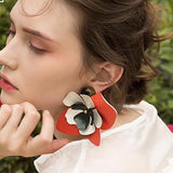 Lilian Big Flower Stud Earrings