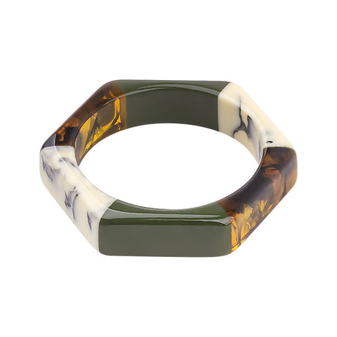 Tora Colorblock Resin Bracelet Bangle - 10 Colors
