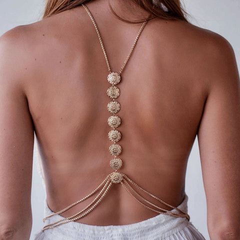 Delilah Sexy Body Chain Necklace - Silver or Gold