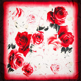 Watercolor Rose Silk Scarves - 2 Colors