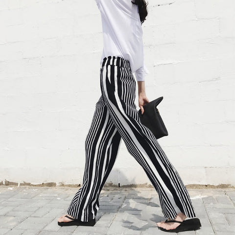 Zoe Striped Wide Leg Pants