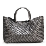 Nizza Faux Leather Woven Bags - 24 Colors