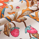 "Vintage Garden Floral Silk Scarves - 50""x50"", 5 Colors"