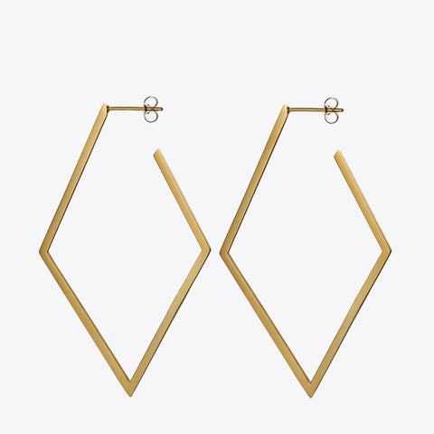 Geometry Big Hoop Earrings - 3 Colors