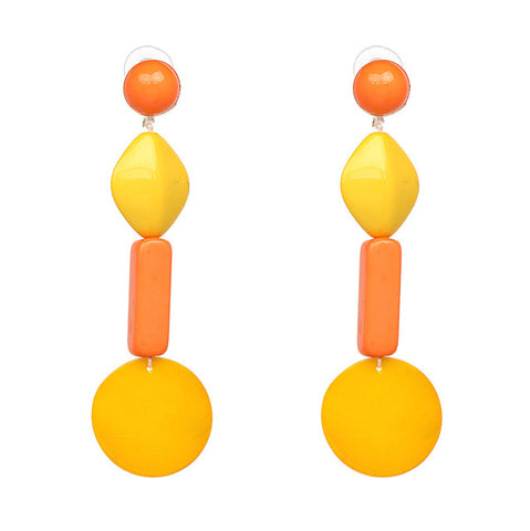Lucie Acetate Resin Chain Drop Earrings - 6 Colors