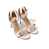 Amari Metal Buckle Ankle Strap Sandals - 2 Colors