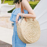Amisha Circle Straw Bag Shoulder Bag