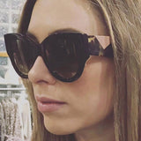 Ingrid Patchwork Resin Frame Cat Eye Sunglasses - 6 Styles