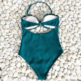 Eva Scalloped Trim One-Piece Mermaid Maillot Swimsuit - 2 Colors
