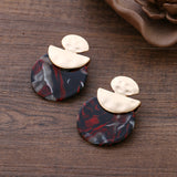 Colorful Acid Acrylic Resin Stud Earrings - 2 Colors
