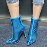 Mia Clear Transparent PVC Ankle Boots - 3 Colors