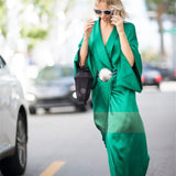 Emerald Green Maxi Satin Kimono Robe/Dress
